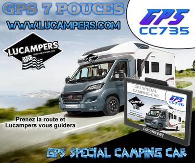 gps camping car lucampers 7 pouces gabarit et aire camping. Black Bedroom Furniture Sets. Home Design Ideas